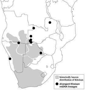 Khoisan distribution